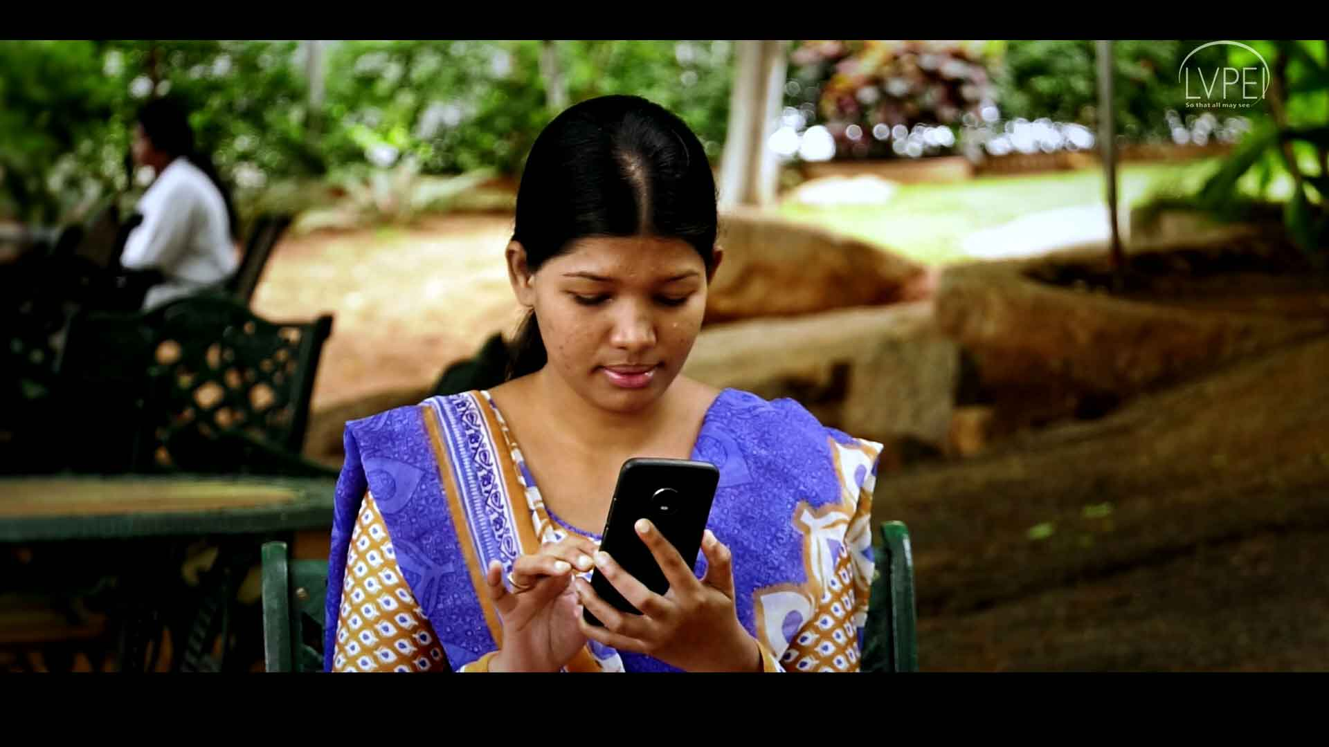 A user using Helping Hands app